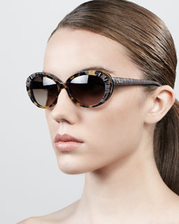 Dior Taffeta Etched Soft-Cat-Eye Sunglasses