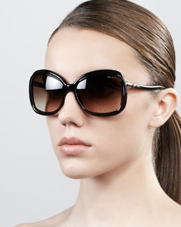 Jimmy Choo Margy Oversized Square Sunglasses