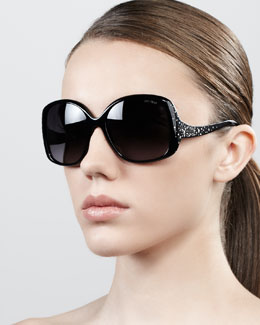 Jimmy Choo Zeta Crystal Constellation Square Sunglasses