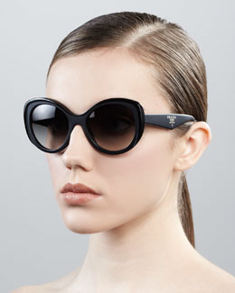 Prada Oval Cat-Eye Sunglasses