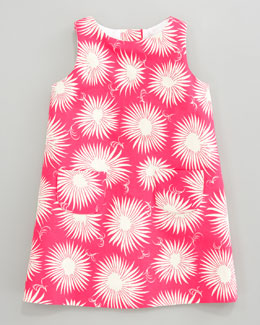 Milly Minis Aster-Print Faille Dress