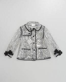 Milly Minis Polka Dot Clear Raincoat