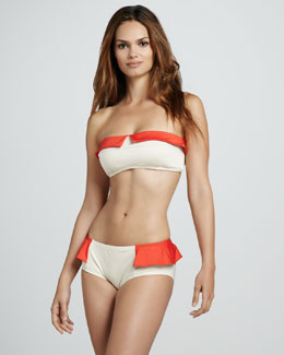 MARC by Marc Jacobs Colorblock Ruffle Bikini