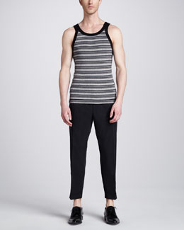 Dolce & Gabbana Striped Tank & Pleated Cropped Pants