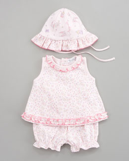 Kissy Kissy Fairyland Sunsuit & Floppy Hat