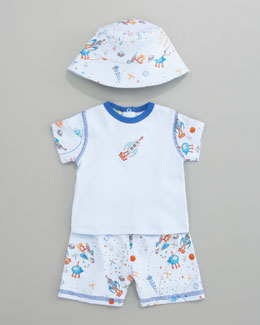 Kissy Kissy Outer Space Short Set & Hat