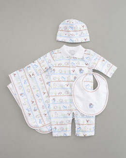 Kissy Kissy Jungle Hullabaloo Hat, Bib, Playsuit & Blanket