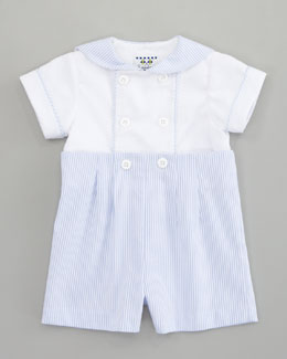 Florence Eiseman Striped Short Playsuit