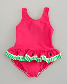 Florence Eiseman Watermelon Swimsuit, Sizes 6-24 Months