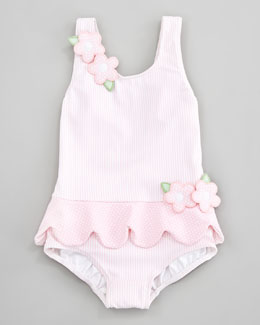Florence Eiseman Tickled Pink Ruffled Swimsuit