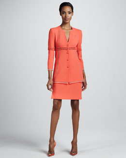 Chado Ralph Rucci Wool Crepe Jacket & Straight Skirt