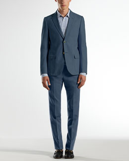 Gucci Poplin Dylan Jacket, Striped Skinny Shirt & Poplin Skinny Formal Pants