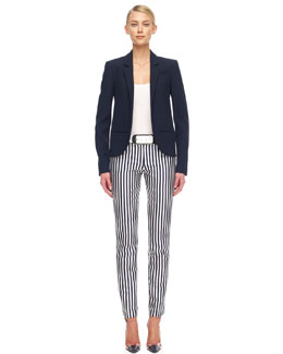 Michael Kors  Gabardine Tuxedo Jacket, Slim Cotton Tank & Striped Shantung Pants