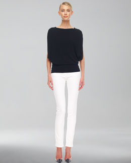 Michael Kors  Draped Jersey Top & Skinny Jeans