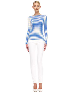Michael Kors  Striped Cashmere Top & Skinny Jeans