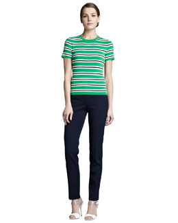 Michael Kors  Striped Knit Top & Samantha Slim Pants