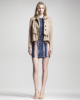 10 Crosby Derek Lam Cotton Parka & Lizard-Print Jersey Dress