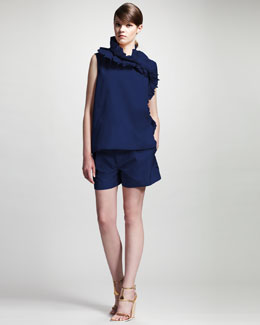 Chloe Ruffled Taffeta Top & Shorts