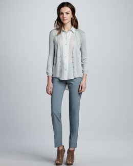 Theyskens' Theory Kizem Cardigan Sweater, Buzzy Blouse & Peete Ankle Pants