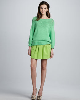 Diane von Furstenberg Averill Sweater & Jan Short Knit Skirt