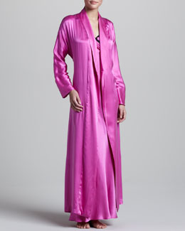 Donna Karan Glamour Silk Robe & Lace-Trim Gown