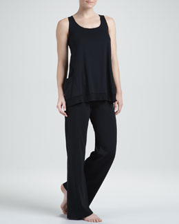 Donna Karan Pima Pocket Tank & Lounge Pants
