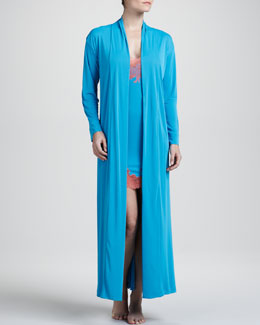 Natori Aphrodite Knit Robe & Enchant Lace-Trim Chemise