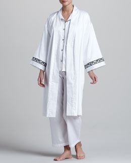 Natori Ming Sateen Robe & Tipped Pajamas