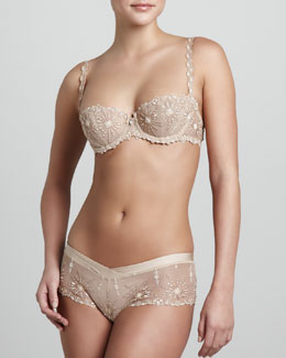 Chantelle Vendome Demi Bra & Shorty, Ultra Nude