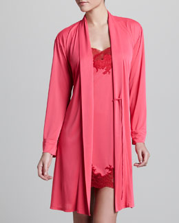 Natori Negligee Wrap Robe & Enchant Lace-Trim Chemise