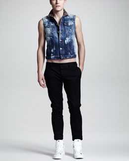DSquared2 Clubbing Jean Vest & Slim Tennis Pants