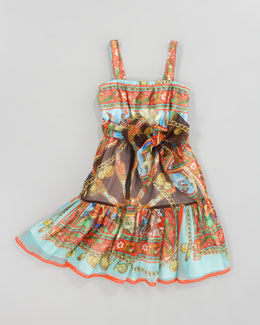 Dolce & Gabbana Printed Silk-Chiffon Sun Dress