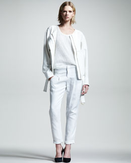 ALC Tawny Cotton-Linen Jacket, Pixley Double-Layer Tank & Steiner Relaxed Linen Pants