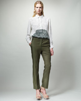 Stella McCartney Dot-Print Blouse & Slouchy Ankle Pants