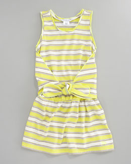 Little Marc Jacobs Metallic Striped Tank Dress