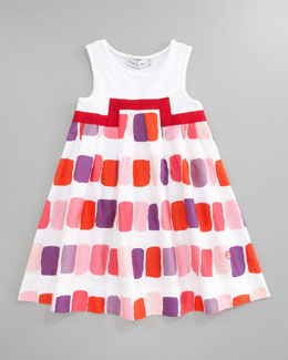 Baby Dior Rectangle Blocks Dress