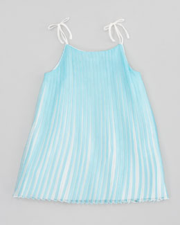 Chloe Mini-Me Satin Pleated Dress