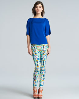 Milly Dolman Top & Piped Racer Pants