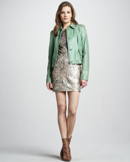 Rachel Zoe Celia Leather Jacket & Janis Sequin Dress