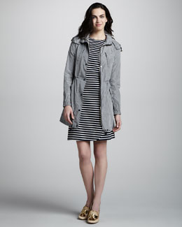Tory Burch Fabian Printed Tech Jacket & Kamilla Striped Knit Dress