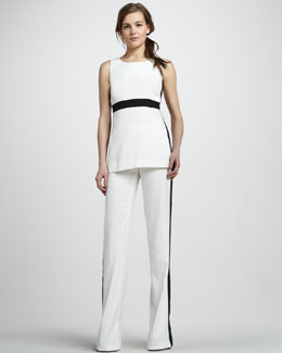Rachel Zoe Jaden Colorblock Top & Jett Wide-Leg Pants