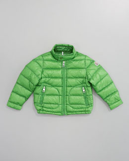 Moncler Acorus Packable Jacket, Green
