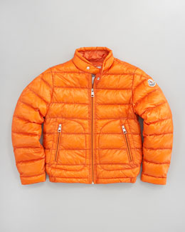 Moncler Acorus Packable Jacket, Orange