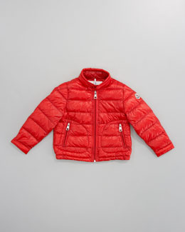 Moncler Acorus Packable Jacket, Red