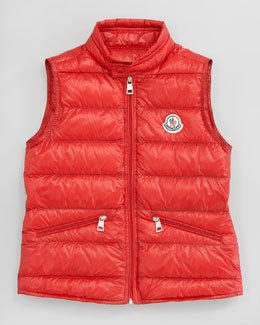 Moncler Gui Long Season Packable Quilted Vest