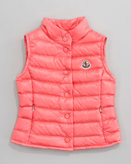 Moncler Llane Long Season Packable Quilted Vest, Rose