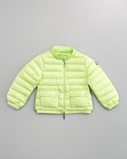 Moncler Lans Long Season Packable Jacket, Mint Green