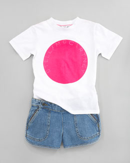Stella McCartney Lawson Stella Logo Tee & Skye Denim Shorts