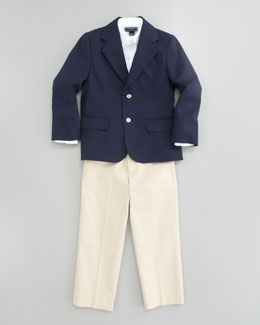 Oscar de la Renta Two-Button Jacket, Long Sleeve Dress Shirt & Classic Trouser Pants