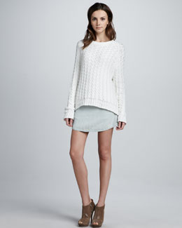 Theyskens' Theory Yark Sweater & Wecksy Rounded Skirt